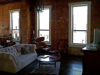 Looks Pretty Good To Me House Idea Brick Accent Wall Brick Room New York Studio Apartment Loft Living