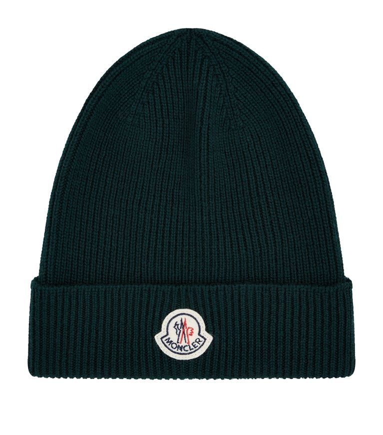 017e9ef00ac MONCLER Knitted Logo Patch Hat.  moncler