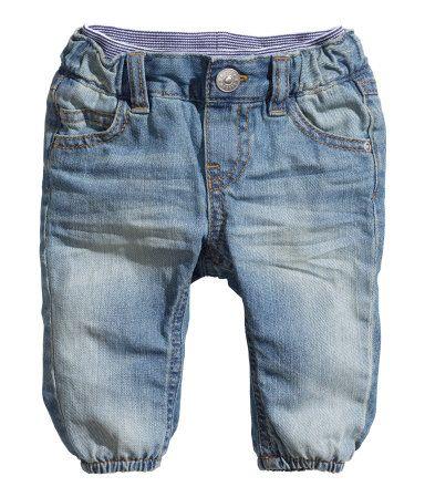 Jeans Denim Per Ragazzi Bambini Bambino elastico in vita Pull On