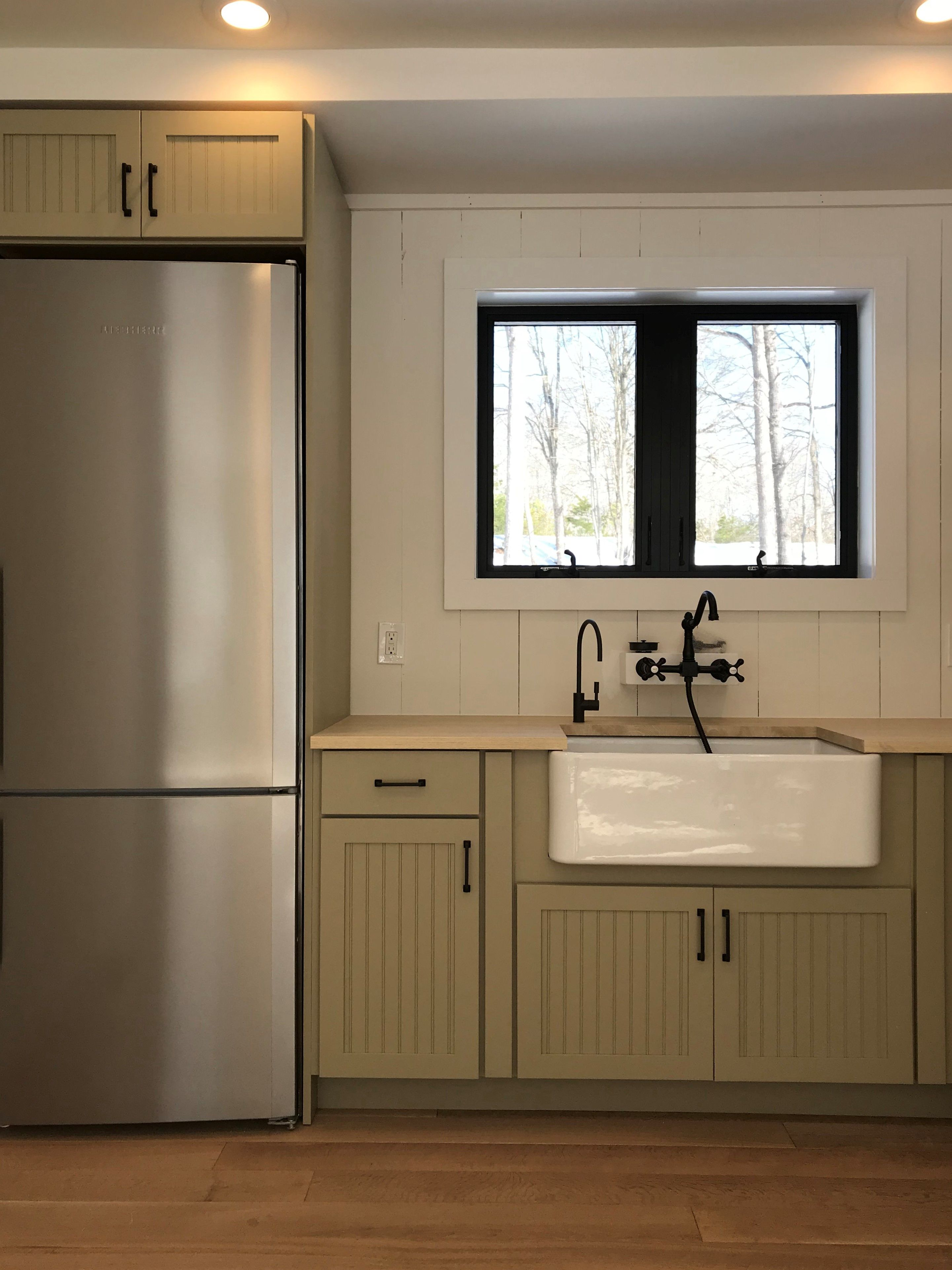 Cabinet colors inspired by nature with bold hardware # ...