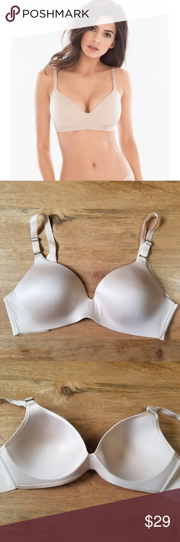 c7ac69db46117 Soma Vanishing Back Wirefree Bra Lt Nude 36C Stunning smoothing wireless bra.  Style is called Vanishing Bra Wirefree. Light nude color.