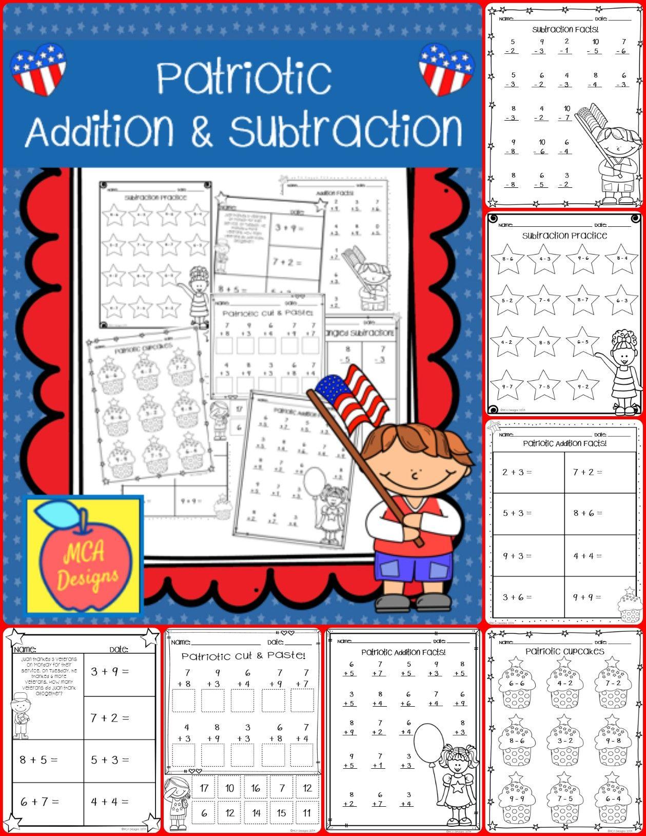 Patriotic Addition Amp Subtraction In