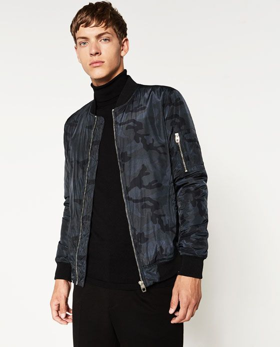 e99fb1ba7 Image 2 of CAMOUFLAGE BOMBER JACKET from Zara | Men's Style | Bomber ...
