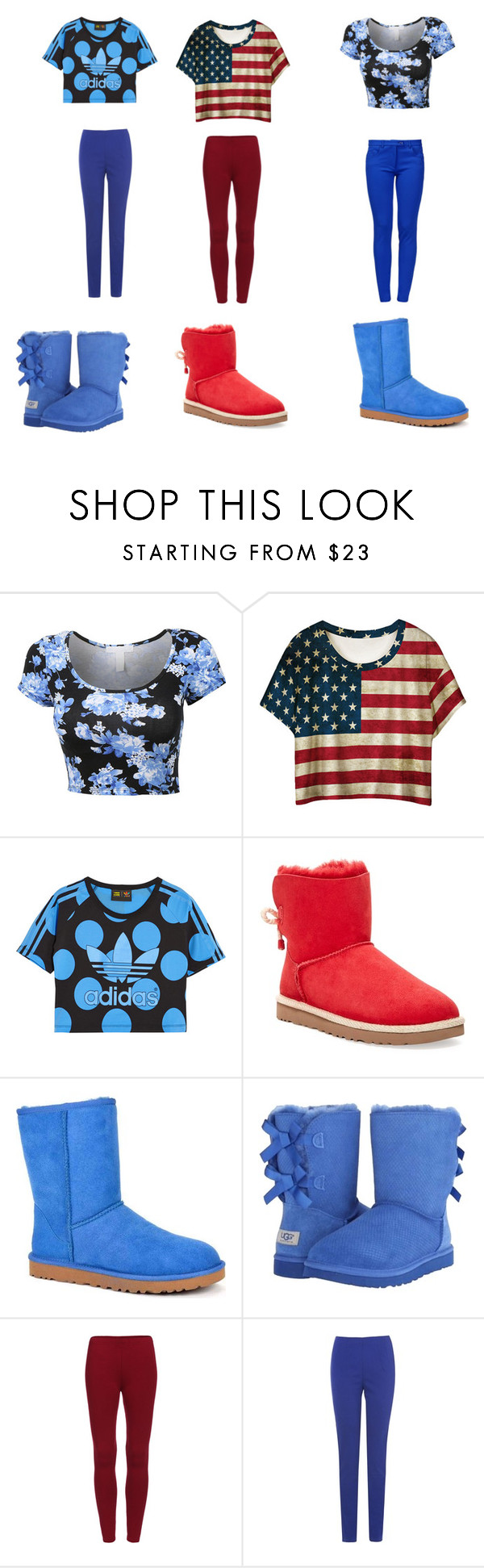 """""""lovely"""" by shanica-smth on Polyvore featuring beauty, adidas Originals, UGG Australia, Phase Eight and Boutique Moschino"""