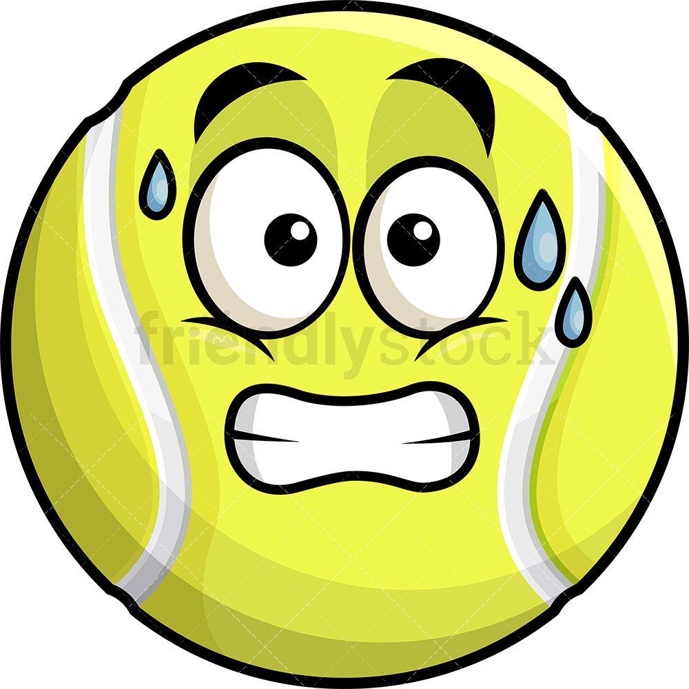 Sweating Tennis Ball Emoji Cartoon Clipart Vector Friendlystock Cartoon Clip Art Emoji Clipart Emoji