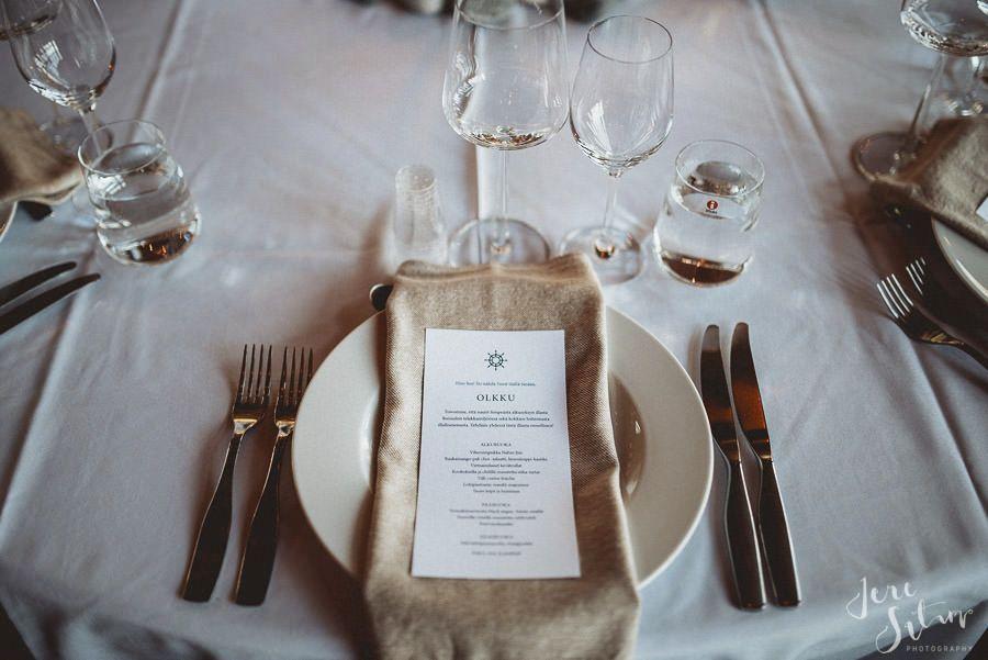 Table setting |Fork |Knife | Wedding | Wedding Inspiration | Hääkattaus |Jere Satamo