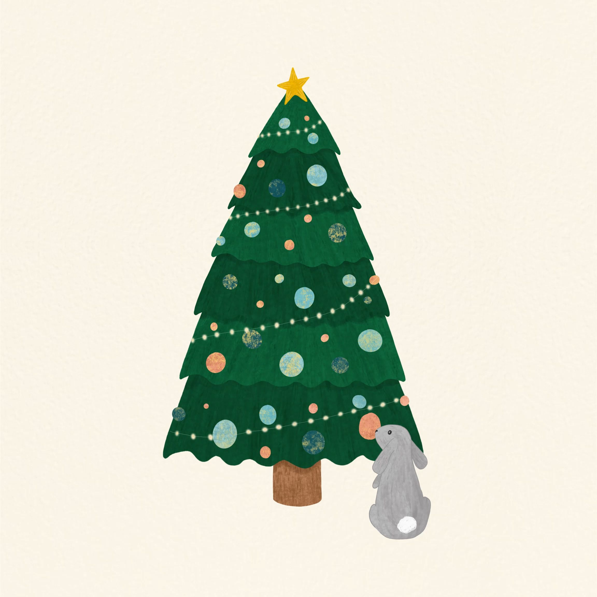 Illustration Christmas Christmasillustration Christmastree Bunny Drawing Christmas Tree Drawing Christmas Illustration Xmas Wallpaper
