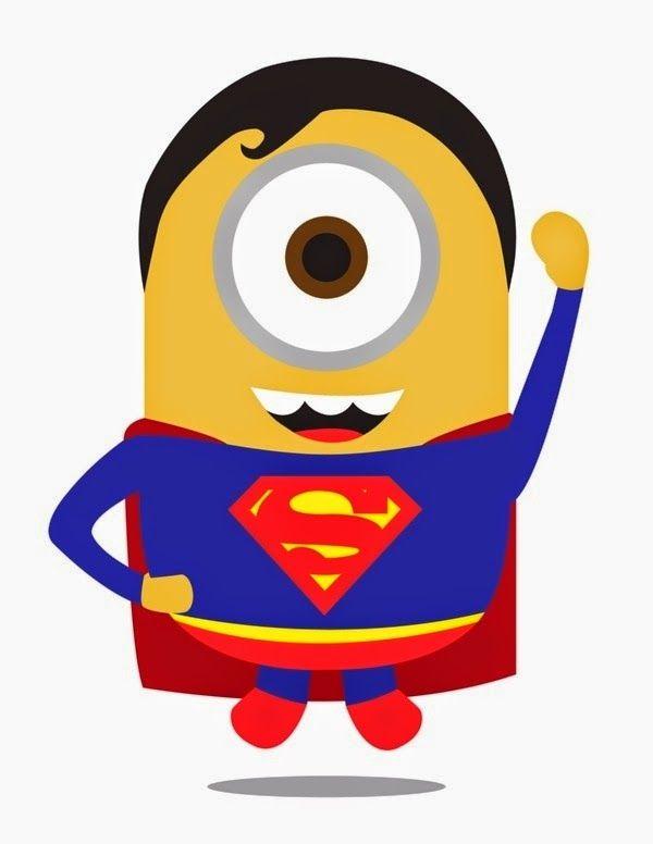 Minions Vestidos De Super Herois Para Imprimir Minions Super