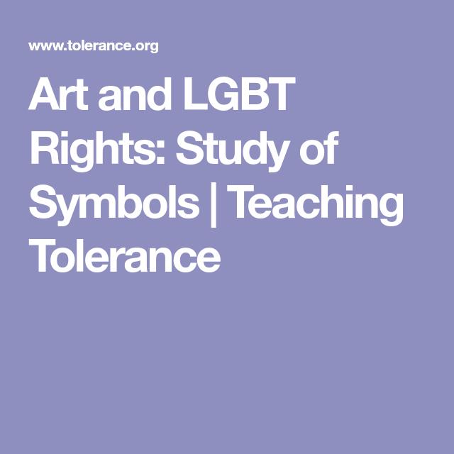Art And Lgbt Rights Study Of Symbols Teaching Tolerance Uf Art