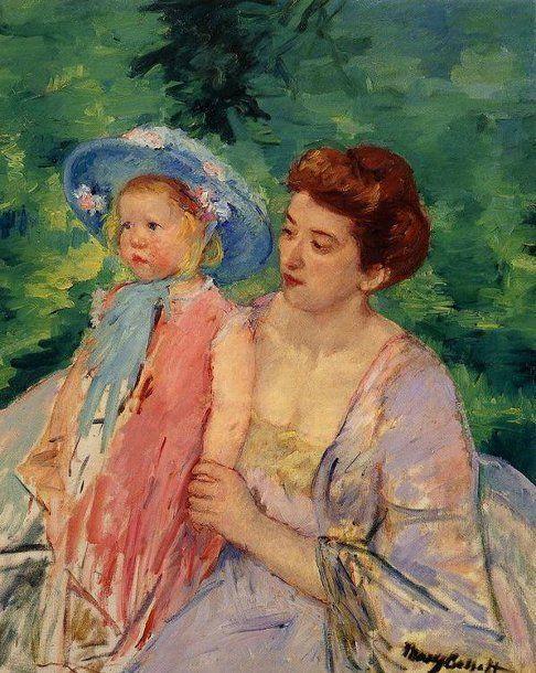 En Bateau by Mary Cassatt