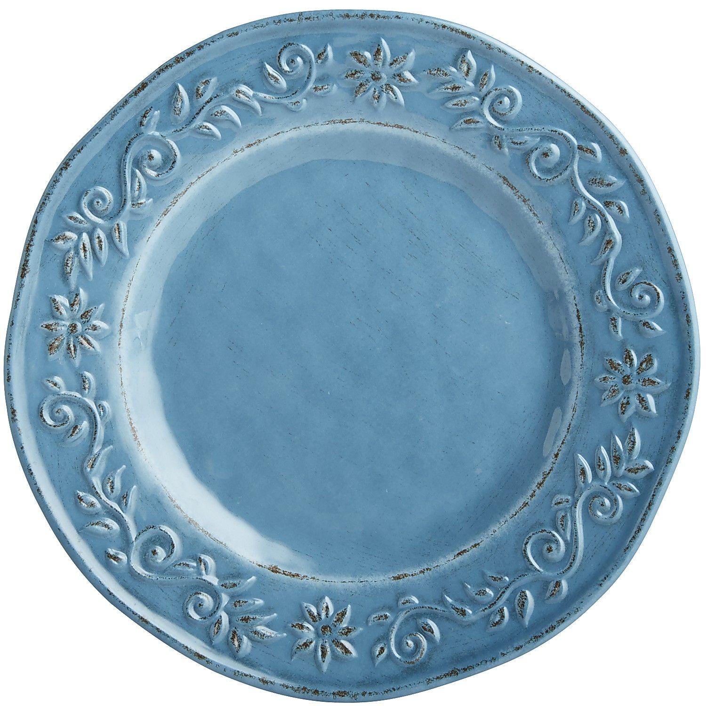 Blue Tuscan Scroll Melamine Dinner Plate  sc 1 st  Pinterest & Blue Tuscan Scroll Melamine Dinner Plate | *Dinnerware u003e Plates ...