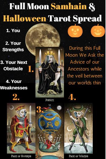 Full Moon Samhain / Halloween Tarot Spread! #fullmoontarotspread