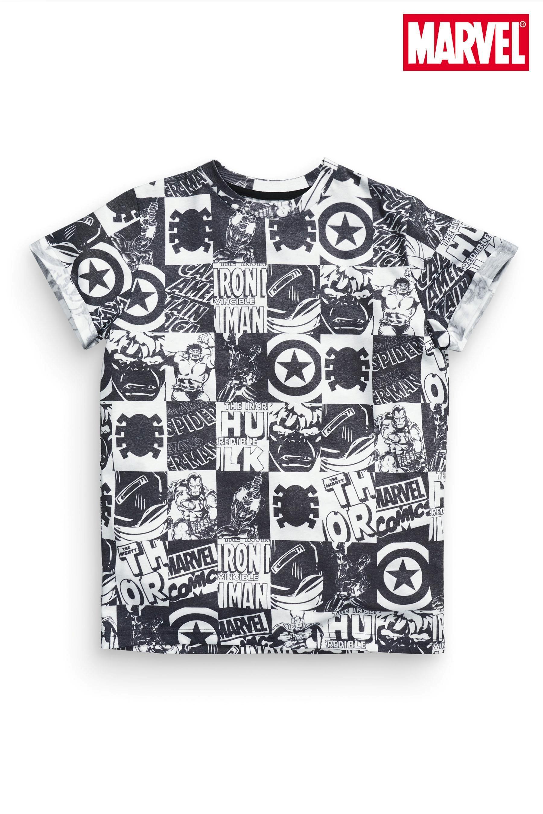 Shirt design online uk - Buy Mono All Over Print Avengers T Shirt From The Next Uk Online Shop
