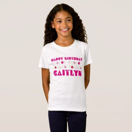 Happy Birthday Pink Frosted Cake Pops Party Favor T Shirt
