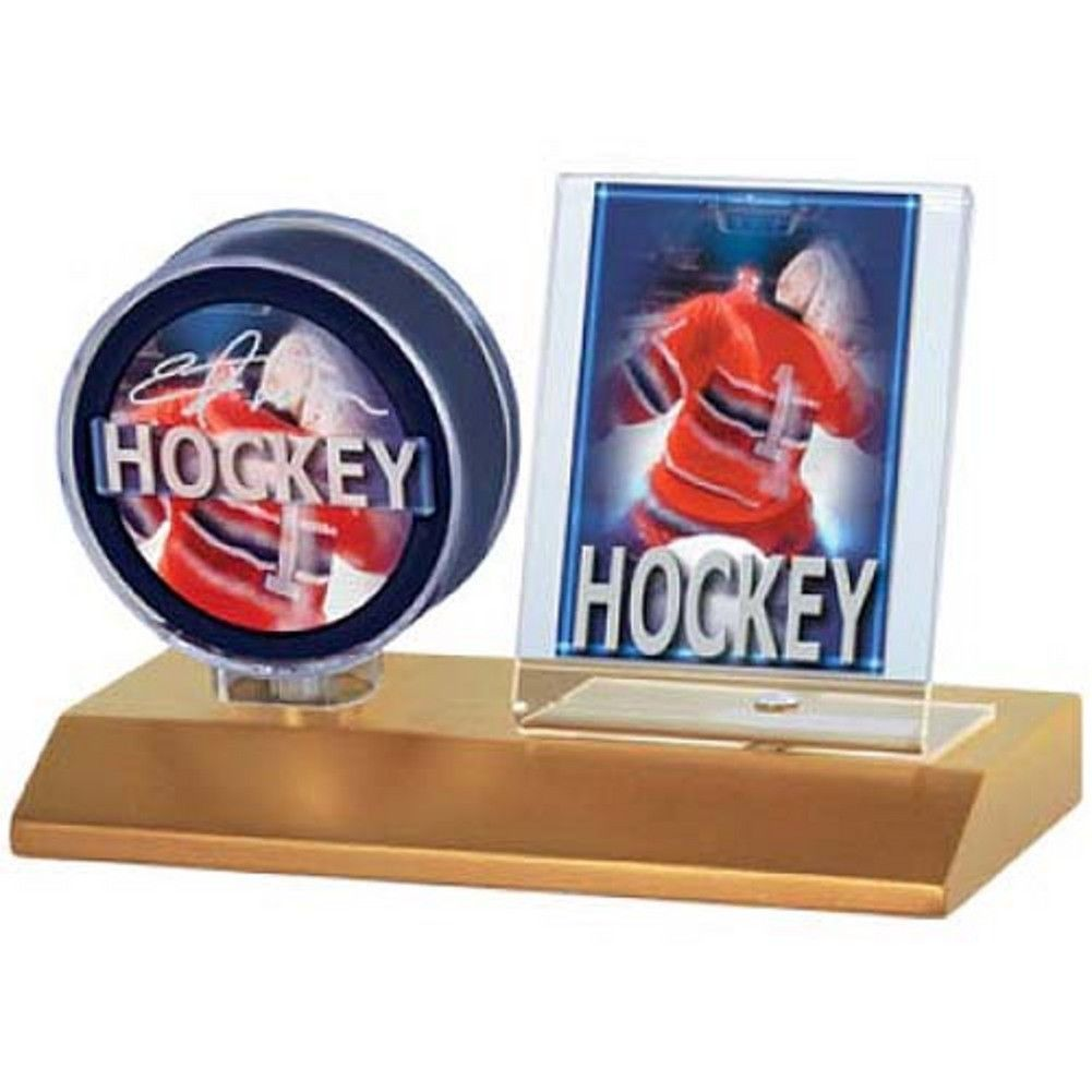 Ultra Pro Wood Base Puck And Card Holder Puck Hockey Puck Card Holder