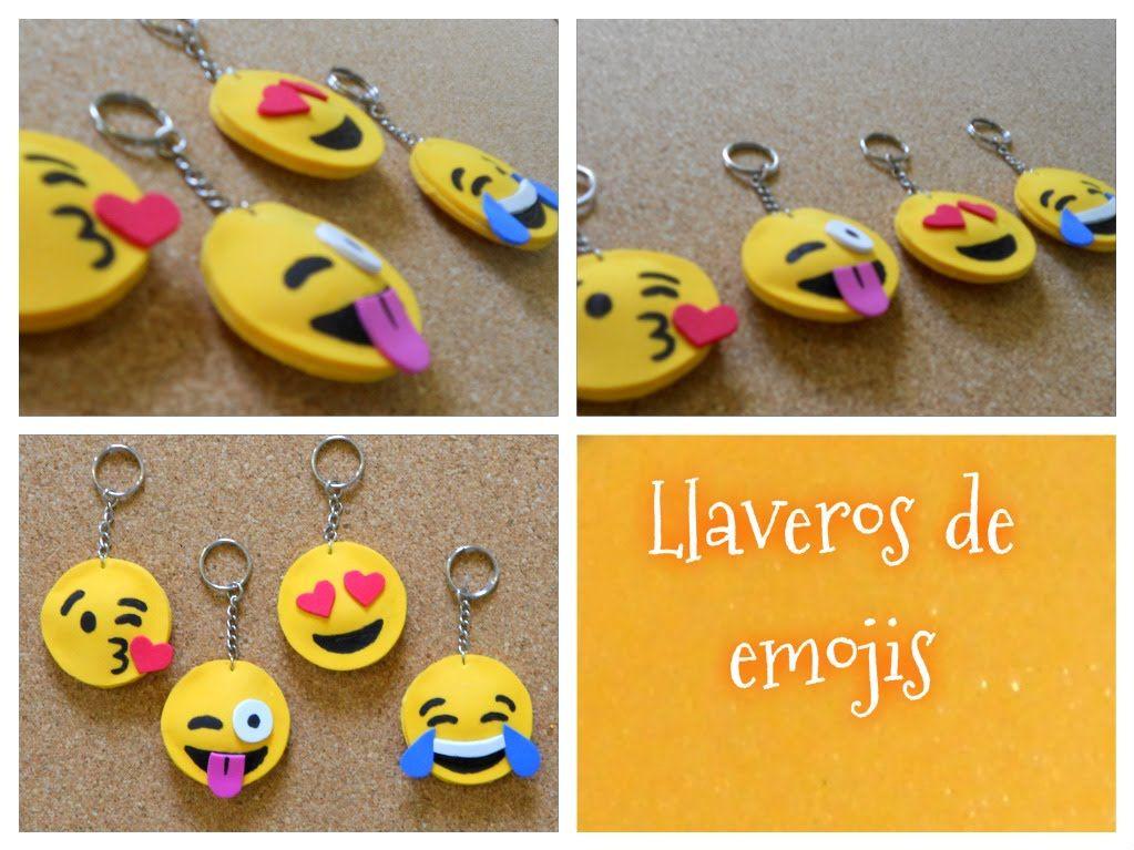 Diy Cómo Hacer Llaveros De Emojis O Emoticones Llaveros De Emojis Como Hacer Llaveros Llaveros En Goma Eva