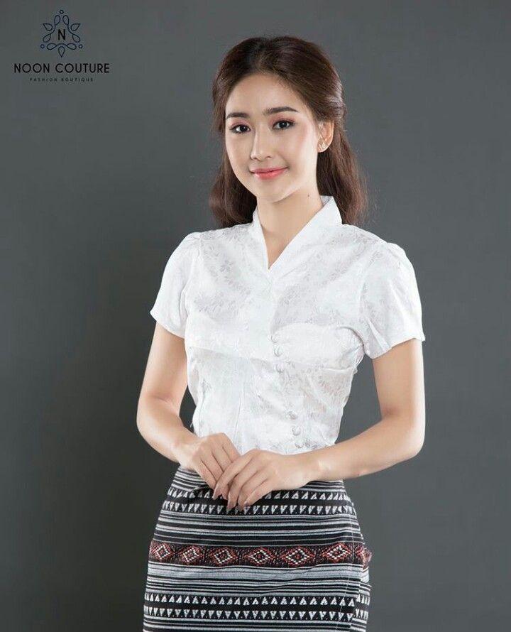 Pin By Aye Sandar On Myanmar Tradition Dress Design In