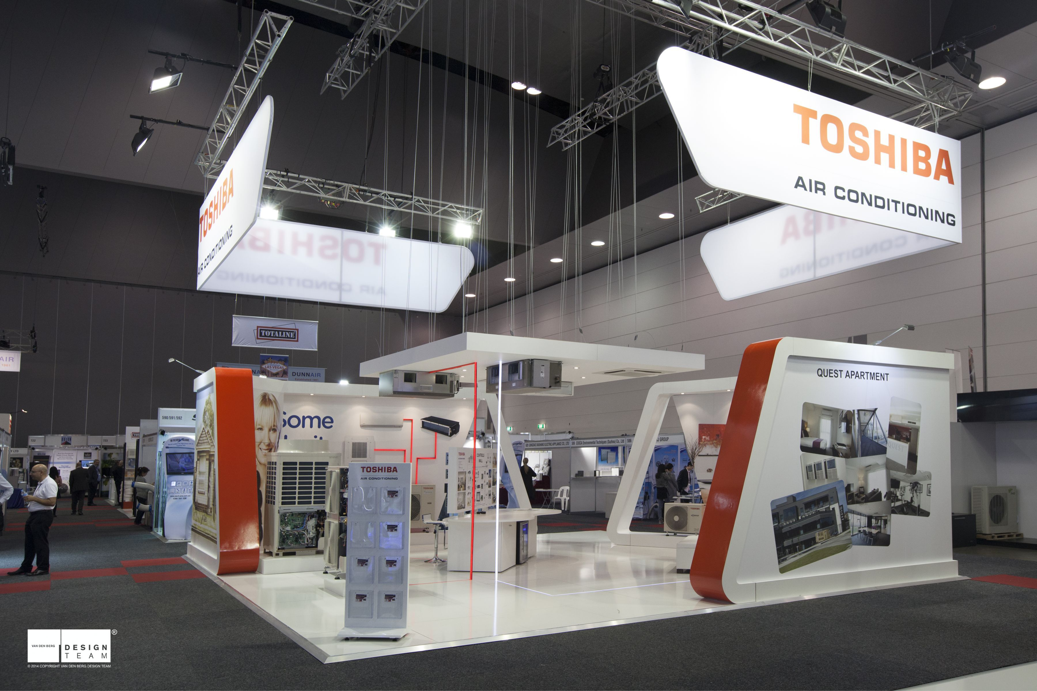 Exhibition Stand Attractors : Toshiba @ arbs having previously exhibited as part of the ahi