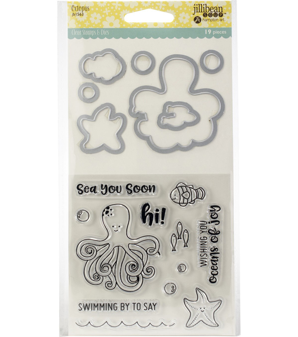 Jillibean Soup Shaker Clear Stamps Die Set Octopus Products In 2019 Clear Stamps Die Cut Machines Stamp