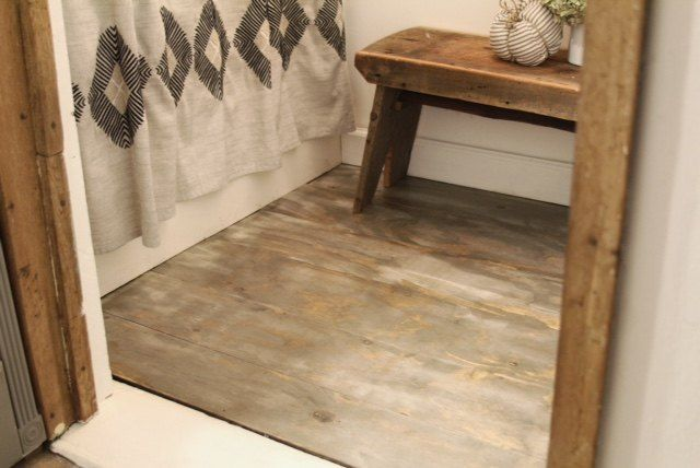 Diy Plywood Flooring Plank Flooring Diy