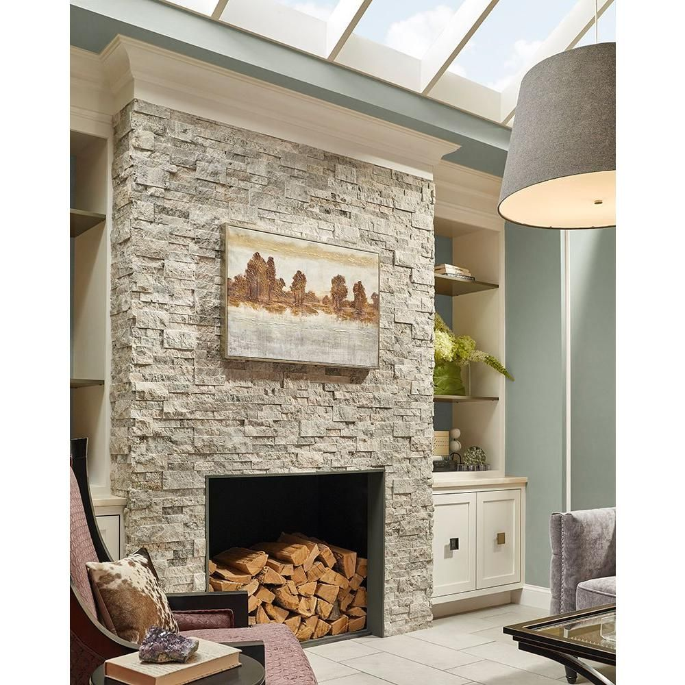Msi Trevi Gray Ledger Panel 6 In X 24 In Natural Travertine Wall Tile 10 Cases 60 Sq Ft Pallet Lhdpnlttrg624 The Home Depot In 2020 Stacked Stone Fireplaces Natural Stone Fireplaces Travertine Wall Tiles