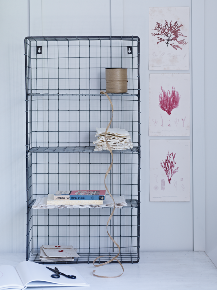 Wire Wall Rack - This four-shelf, boot room style wire unit gives your - Wire Wall Rack - This Four-shelf, Boot Room Style Wire Unit Gives