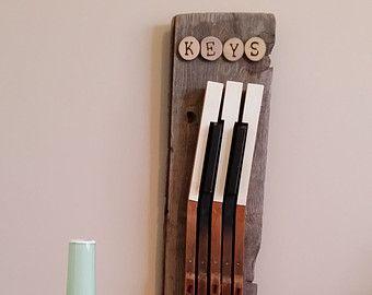 Key Wall Art piano key wall art | upcycled repurposed vintage piano key art key