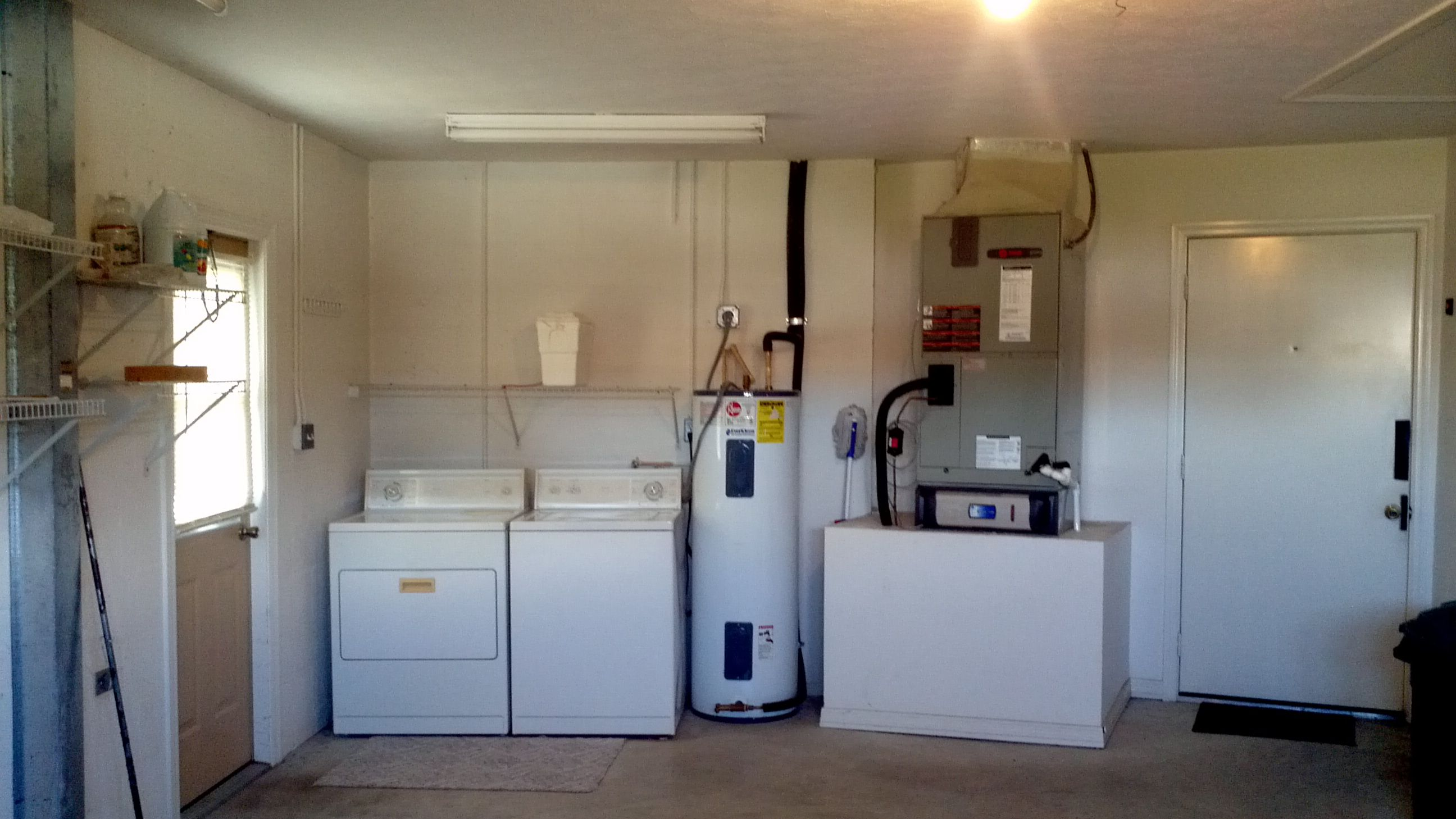 9 Washer Dryer And Utilities Are In The Garage Also No More Air Handler In The Attic No More Flooding Eva Solar Installation Wood Frame House Installation