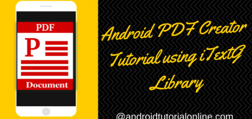 Pdf tutorial android beginners studio for
