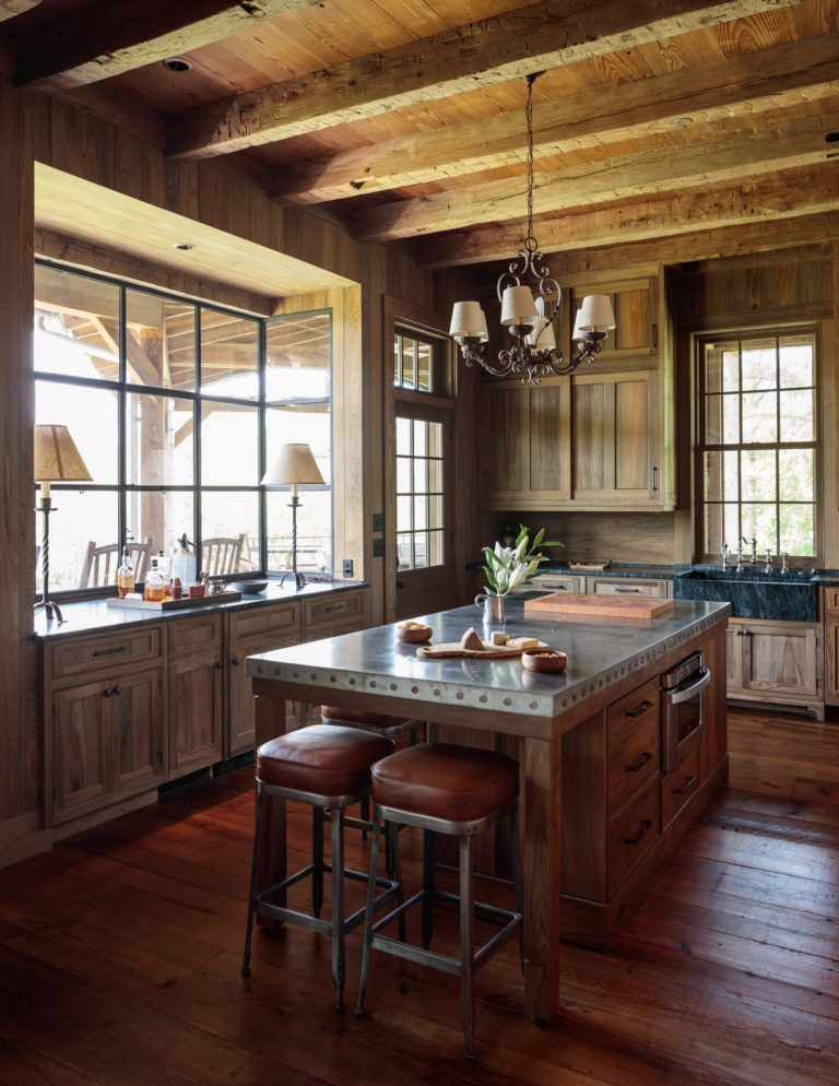 classic country kitchen from crown point cabinetry love the natural wood island with colored on kitchen interior classic id=54612