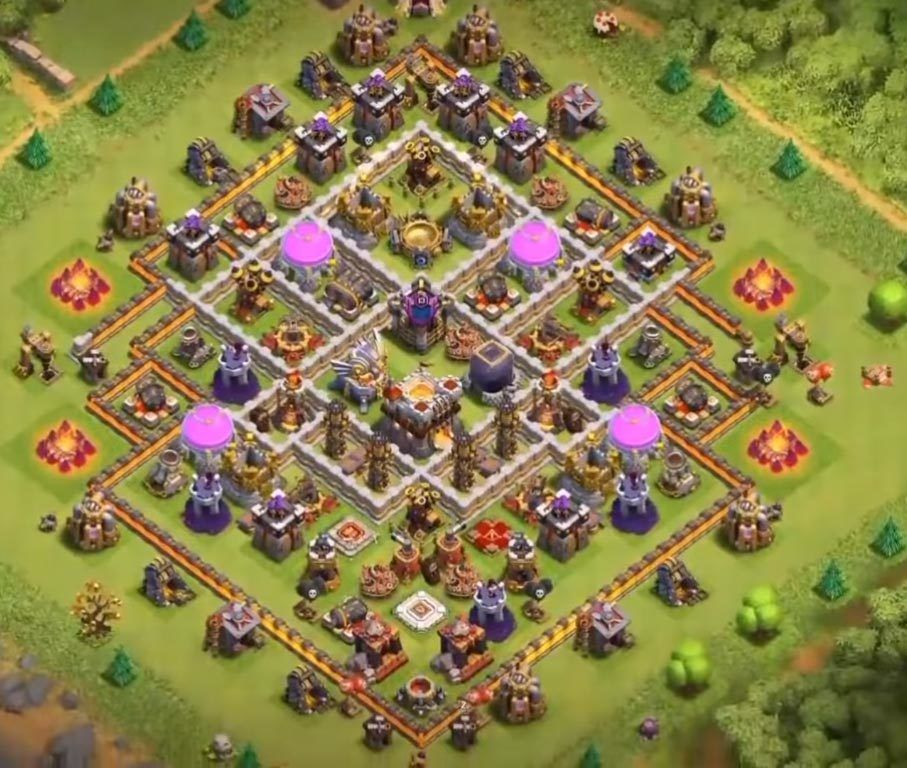Coc Th 11 Best Defence Base 2019 5