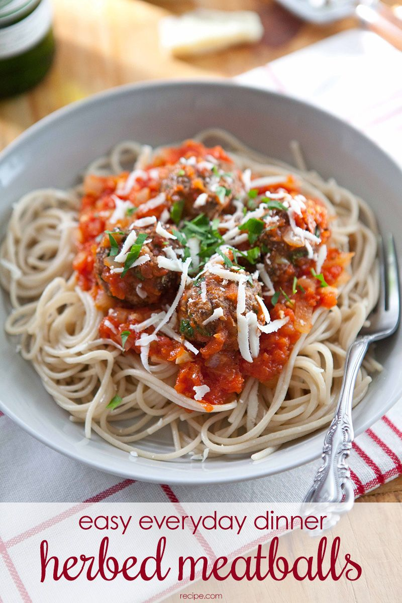 These herbed meatballs are easy enough for any weekday but delicious enough for a special occasion. #meatballs