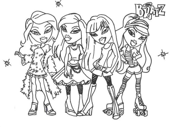 Passion For Fashion Bratz Dolls Coloring Pages Letscolorit Com