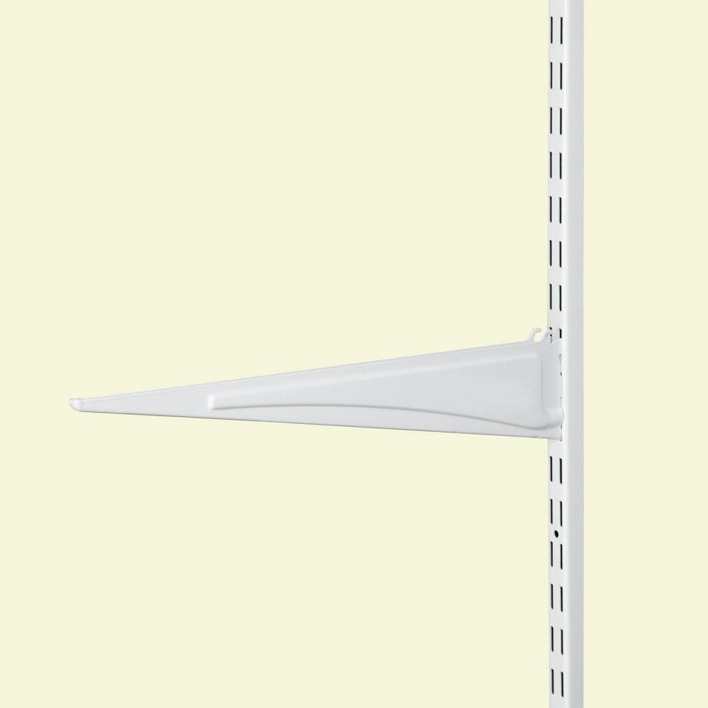 Closetmaid Shelftrack 16 In X 5 In White Shelf Bracket 7 98 At Homedepot Com White Shelves Closetmaid Shelf Brackets