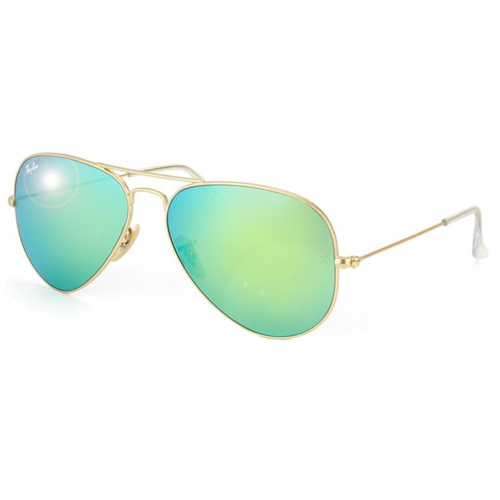 The Ray Ban 3025 offers a classic aviator style and green mirrored lenses.  Mirrored lenses. Ray Ban Aviadores EspelhadosÓculos De Sol ... e1ed93be79