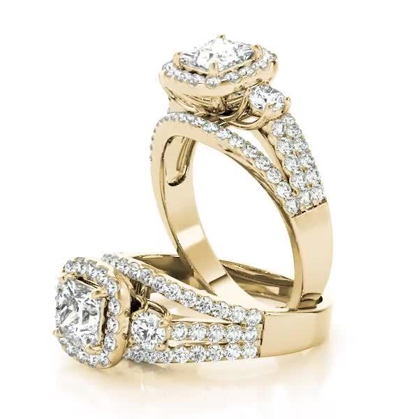 Fine Jewelry Realistic Cushion Morganite Solid 14k Rose Gold Wedding Natural Diamonds Ring Fine Jewelry With Traditional Methods Jewelry & Watches