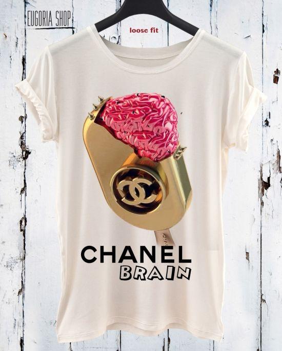 Chanel Brain Ice Cream Pop Art T Shirt Anishar T Shirt