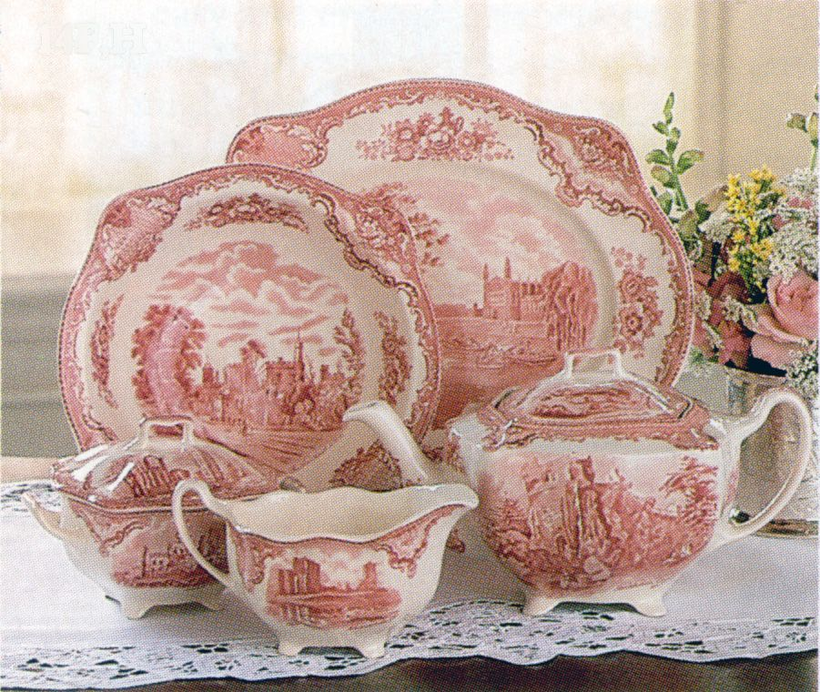 Johnson Brothers Old British Castles My Grandma S Dishes Priceless Pink Dishes Pink Dinnerware Red Toile