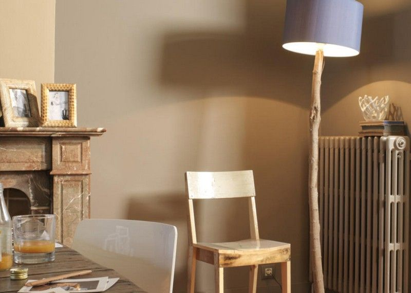 Fesselnd Wandfarben Ideen Sand Beige Braun Leseecke Landhausstil Gestalten