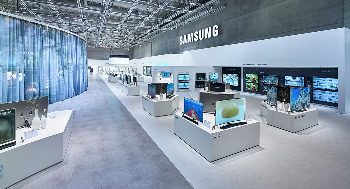 Samsung Exhibition Stand Design : Samsung electronics ifa berlin electrical display