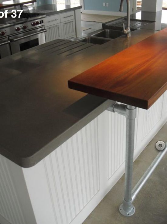 Kee Klamps Diy Wood Counters Diy Breakfast Bar Kitchen Bar