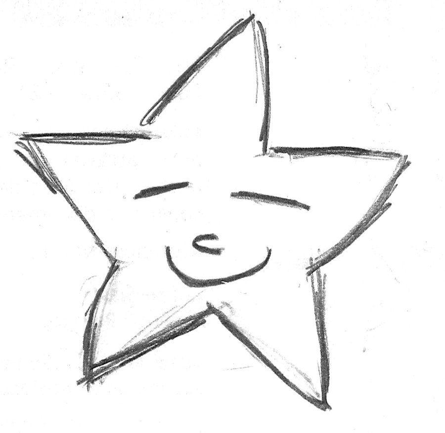 картинки звезда как нарисовать лучи спектре