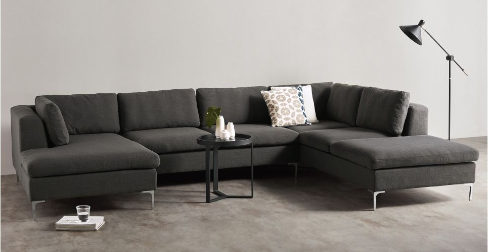 Monterosso Right Corner Sofa, Oyster Grey from Made Express