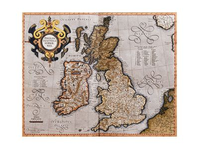 Map of the British Isles, from 'Atlas Sive Cosmographicae Meditationes De Fabrica Mundi Et Fabricati Figura'