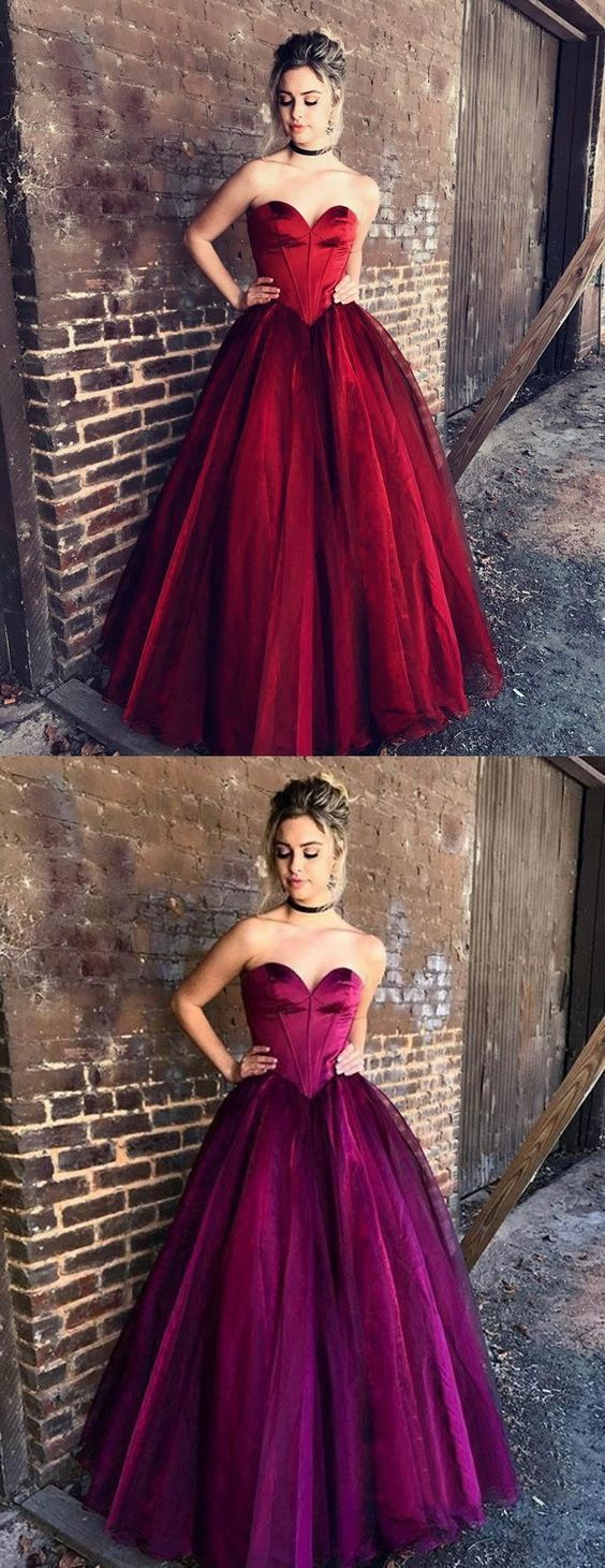 Elegant sweetheart prom party dresses fashion formal evening gowns