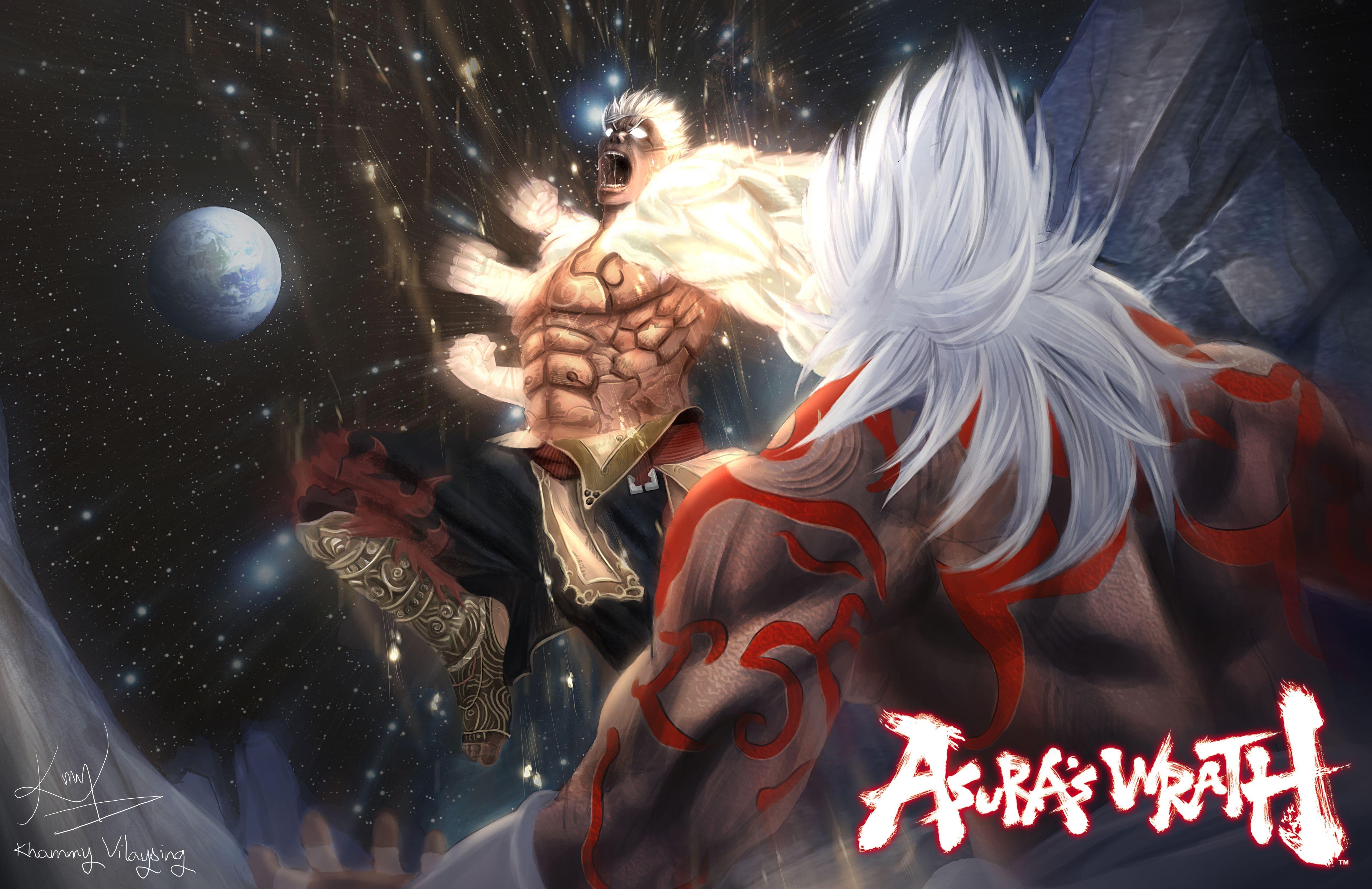 Asuras Wrath Hd Desktop Wallpaper High Definition Fullscreen Asura S Wrath Wrath Werewolf Art