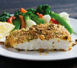 Fish with pistachio crust