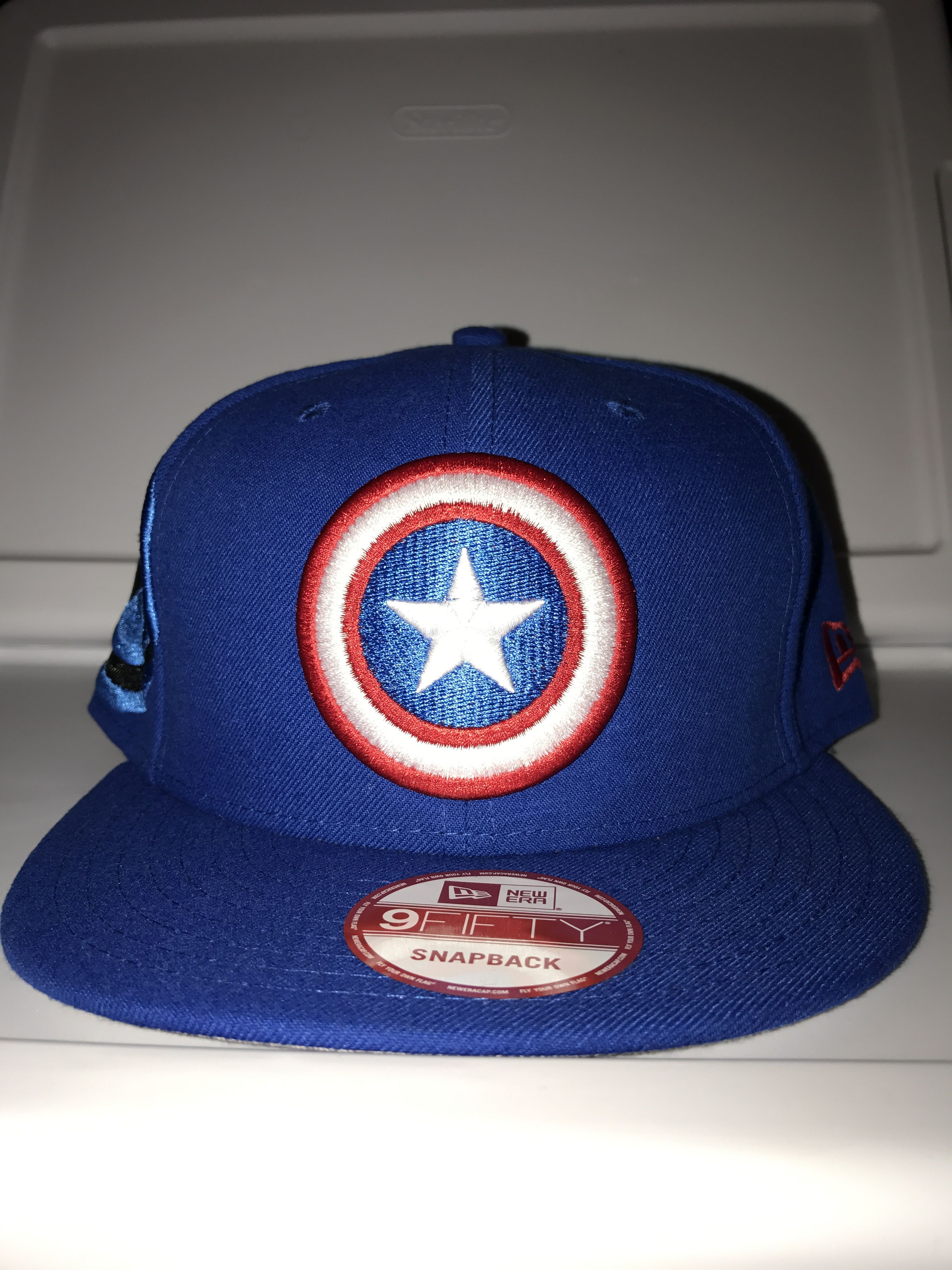 5b609a17a0ff9 New era marvel captain America fresh side snapback