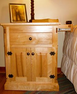Secret Compartment Furniture Nightstand Brilliant Safe Way To Keep Pistol In The