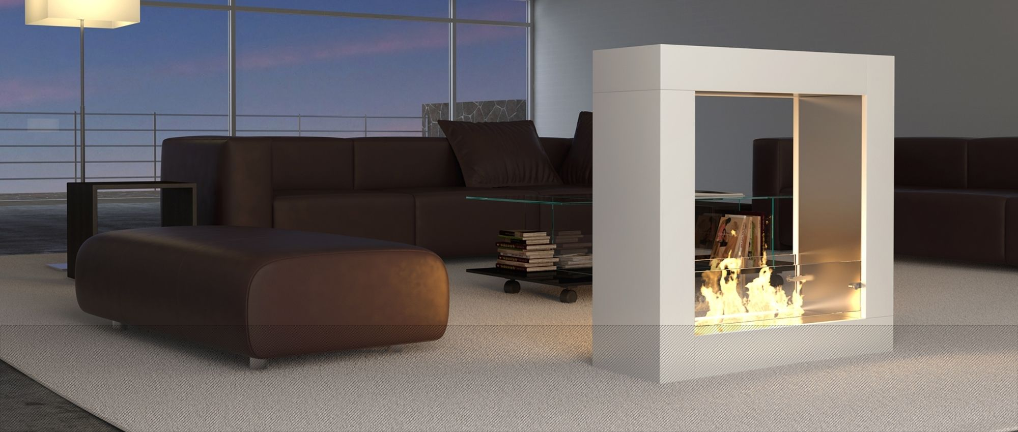 contemporary design with decoflame® sydney, floor model | burning, Wohnzimmer dekoo